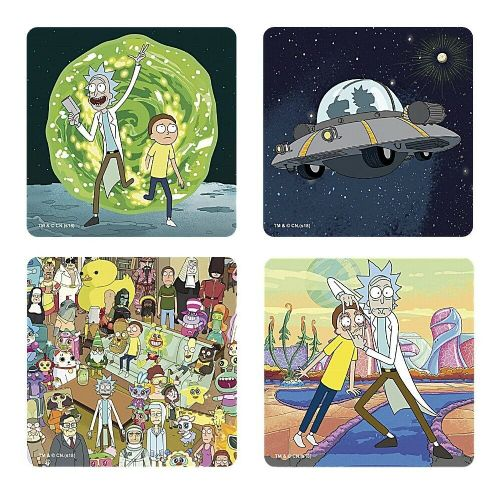 Rick and Morty Coasters Drinks Mat Set of 4
